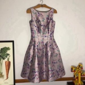 Chi Chi London silky lilac floral dress sz UK10